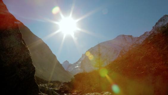 Sun over Glacier